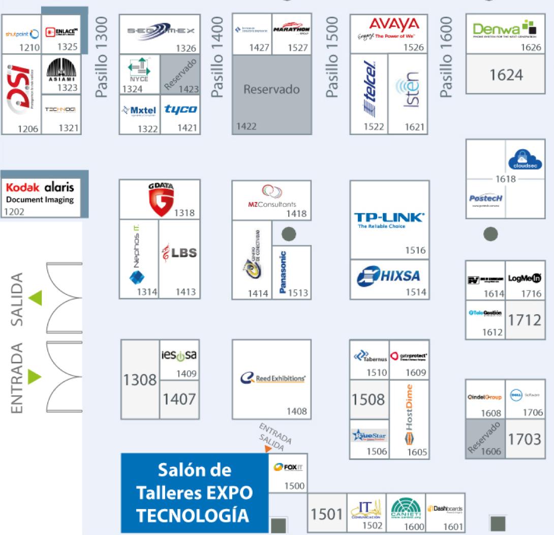 Mapa ExpoTecnología México 2015